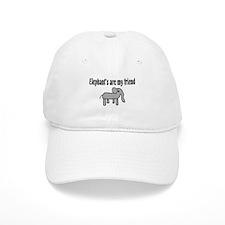 Elephants are my Friends Baseball Cap