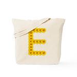 Pretty Yellow Flower Letter E Tote Bag
