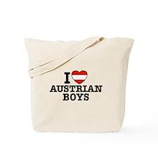 I Love Austrian boys Tote Bag