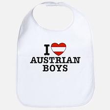 I Love Austrian boys Bib