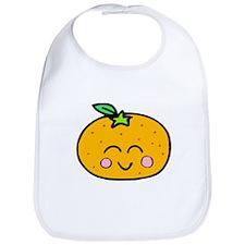 Cute Smiling Peach Tshirts and Gifts Bib