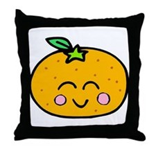 Cute Smiling Peach Tshirts and Gifts Throw Pillow