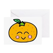 Cute Smiling Peach Tshirts and Gifts Greeting Card