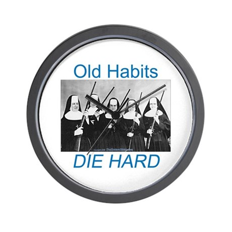 Old Habits Wall Clock