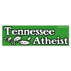Tennessee Atheist Bumper Bumper Sticker
