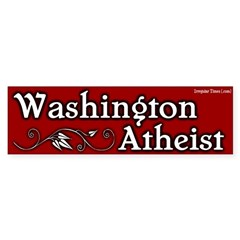 Washington Atheist Bumper Bumper Sticker