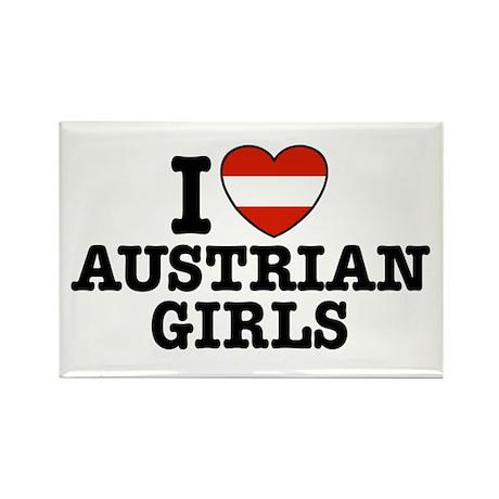 I Love Austrian Girls Rectangle Magnet
