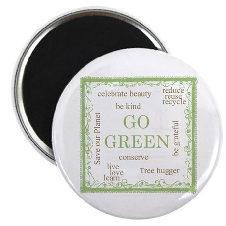 """Go Green! 2.25"""" Magnet (10 pack)"""