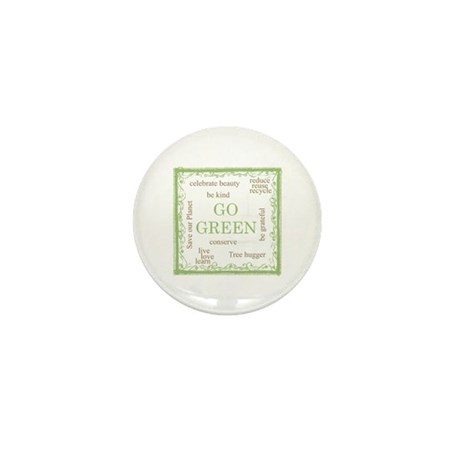 Go Green! Mini Button (100 pack)