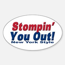 NY GIANTS Stompin you out Oval Decal