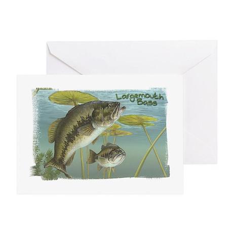 Largemouth Bass, Fish Greeting Card