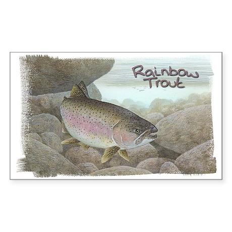 Rainbow Trout, Fish Rectangle Sticker
