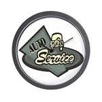 Auto Service Wall Clock