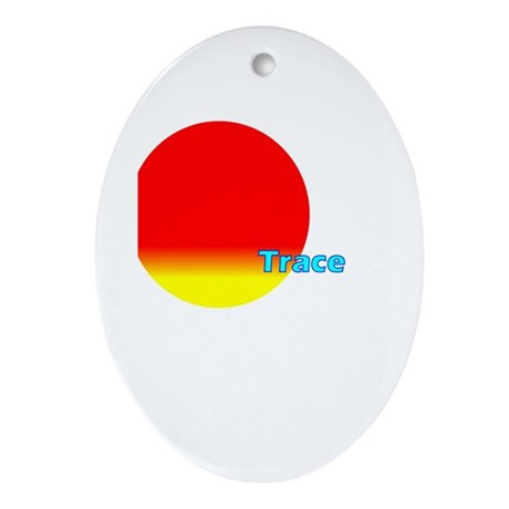 Trace Oval Ornament