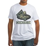 Mechanic Auto Service Fitted T-Shirt