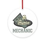 Mechanic Auto Service Keepsake (Round)