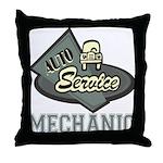 Mechanic Auto Service Throw Pillow
