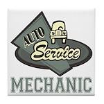 Mechanic Auto Service Tile Coaster