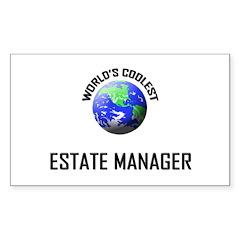 World's Coolest ESTATE MANAGER Sticker (Rectangula