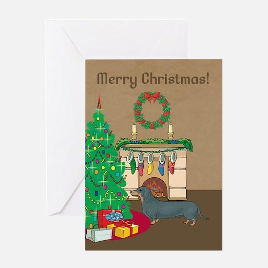 Merry Christmas Dachshund Greeting Card