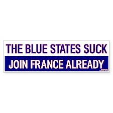 The Blue States SUCK Bumper Bumper Sticker