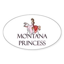 Montana Princess Oval Decal
