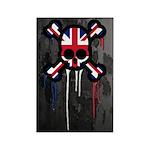 British Punk Skull Rectangle Magnet