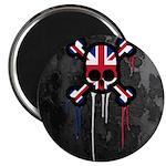 British Punk Skull Magnet