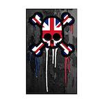 British Punk Skull Sticker (Rectangle)
