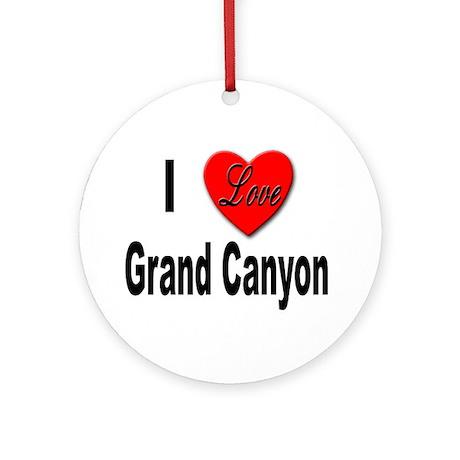 I Love Grand Canyon Keepsake (Round)