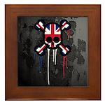 British Punk Skull Framed Tile
