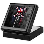 British Punk Skull Keepsake Box