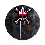 British Punk Skull Ornament (Round)