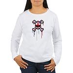 British Punk Skull Women's Long Sleeve T-Shirt