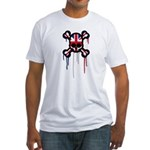 British Punk Skull Fitted T-Shirt
