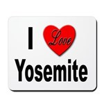 I Love Yosemite Mousepad
