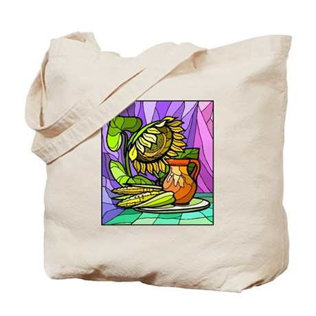 colorful Corn & Sunflower Tote Bag