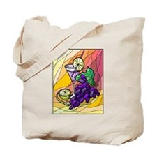 colorful Grapes & Drink Tote Bag