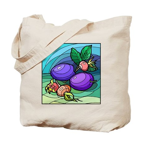 colorful Plums Tote Bag