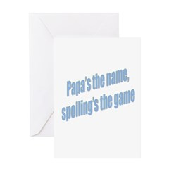 Papa's the name Greeting Card