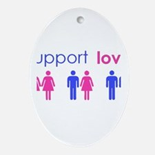 Cute Marriage equality Oval Ornament
