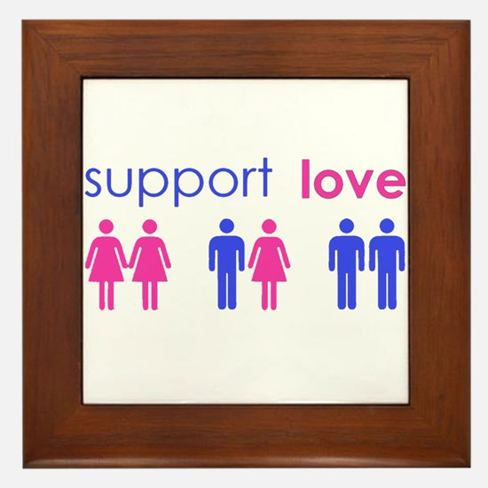 Cute Gay rights Framed Tile