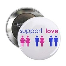 """Cute Support equal rights 2.25"""" Button"""