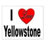 I Love Yellowstone Small Poster