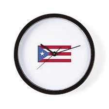 Puerto Rico Flag Wall Clock