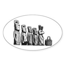 Easter Island Oval Decal