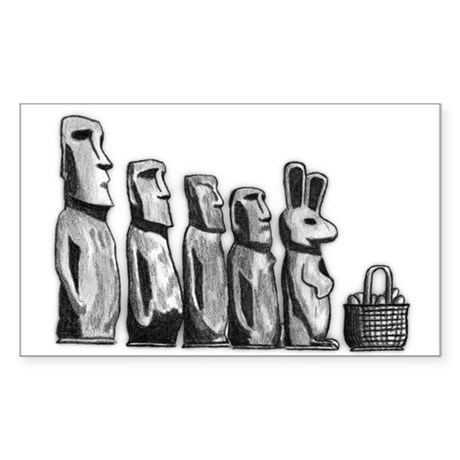 Easter Island Rectangle Sticker