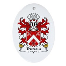 Tristram (OR TRYSTAN) Oval Ornament