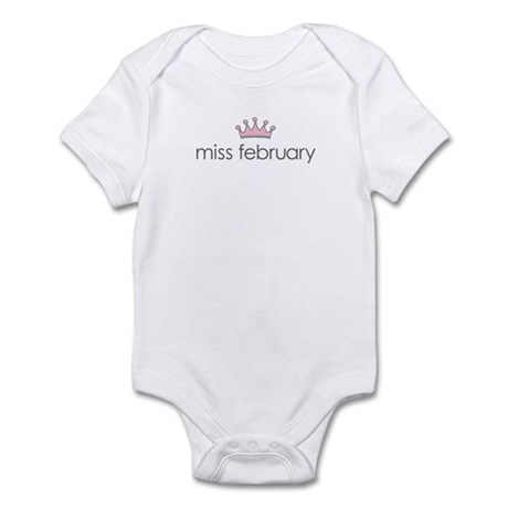 Miss February Infant Bodysuit
