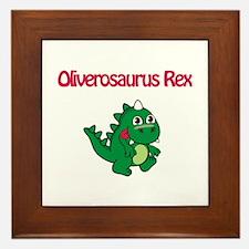 Oliverosaurus Rex Framed Tile